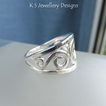 circle swirls ring 5