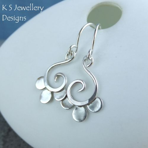 Sterling Silver Petal Swirl Earrings