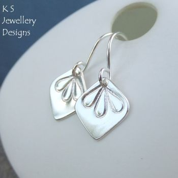 Sterling Silver Petal Trio Drop Earrings (version 1)