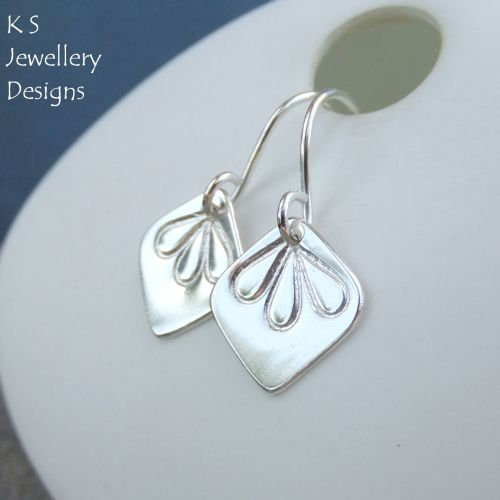 Sterling Silver Petal Trio Drop Earrings