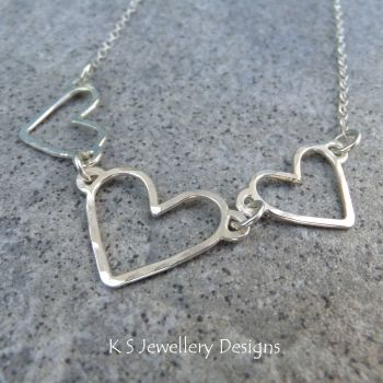 Heart trio necklace 5
