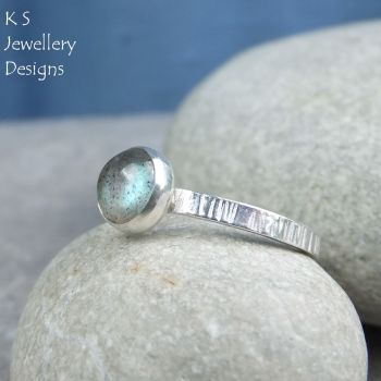 Labradorite striped ring 1