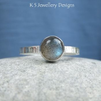 Labradorite striped ring 3