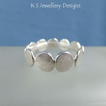 Stepping Stones Sterling Silver Textured Ring (made to order)