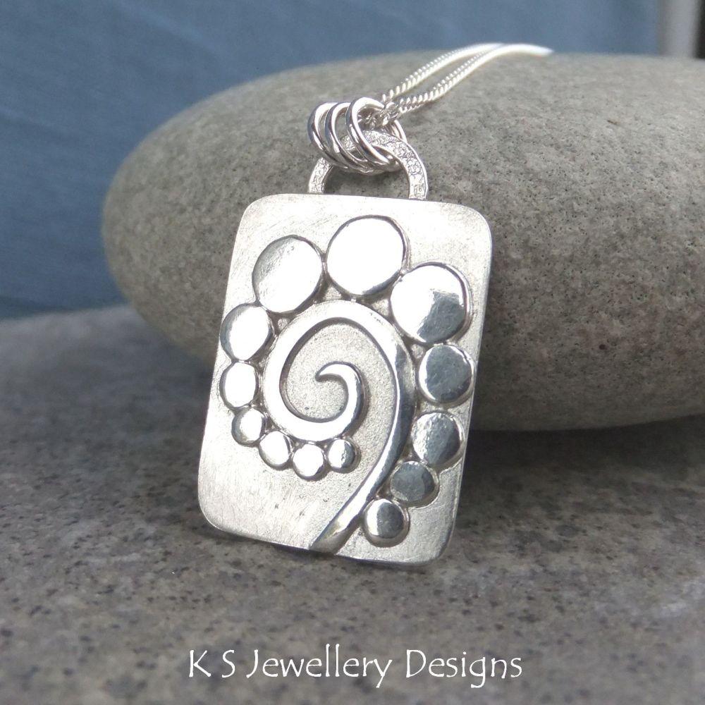 Pebble Swirl Sterling Silver Pendant