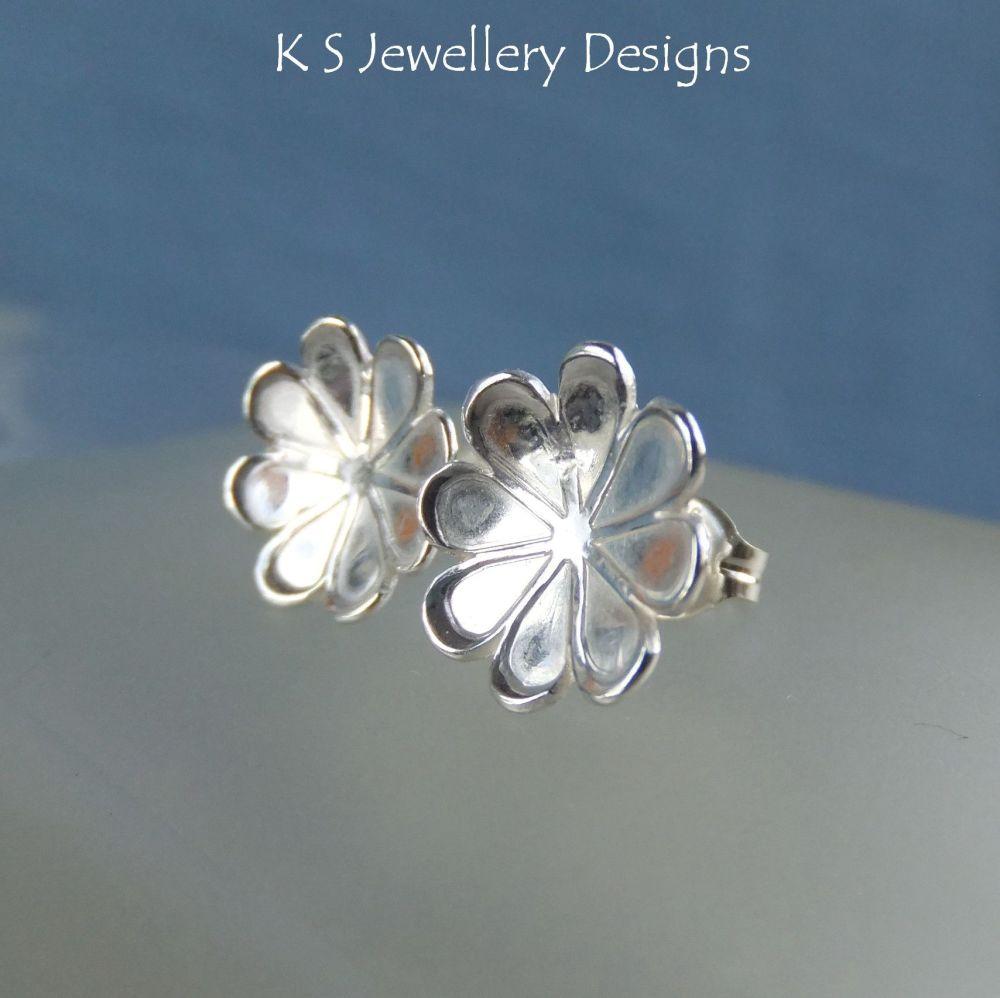 Daisy Blossom Sterling Silver Stud Earrings