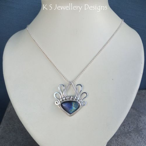 * SALE - Labradorite Sterling Silver Pendant WAS £80 NOW £55