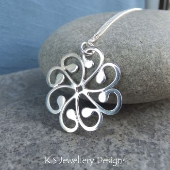 * RESERVED FOR R G REES * Swirly Swirls Sterling Silver Pendant