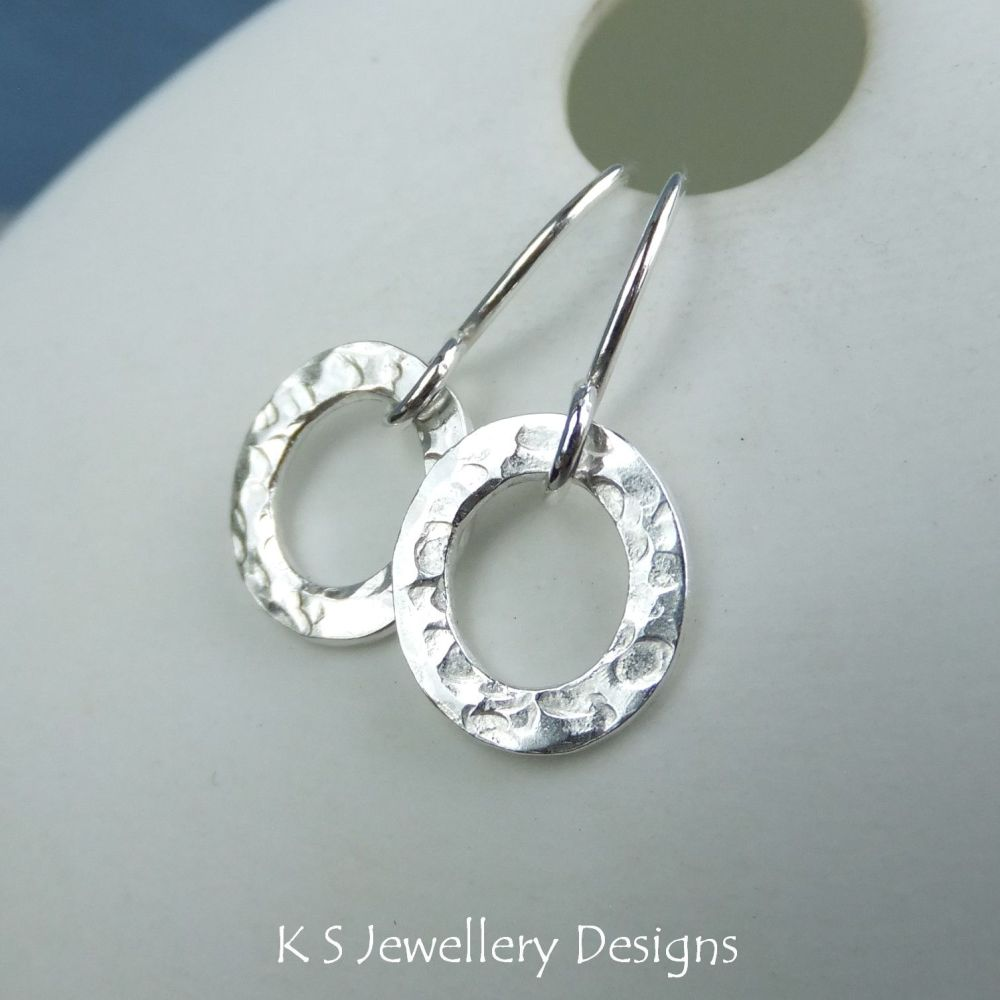 Textured Ovals Sterling Silver Earrings