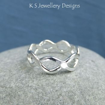 Twisted Wire Sterling Silver Ring - (UK size O / US size 7.25)