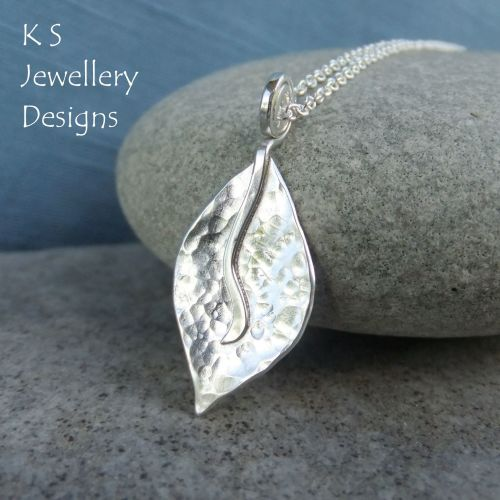 Dappled Petal Sterling Silver Pendant - Version 1