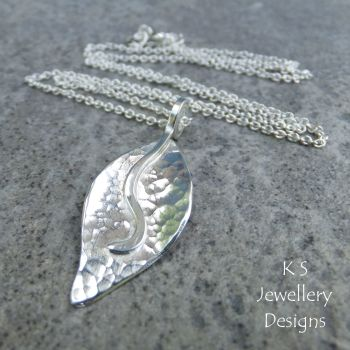 Dappled Petal Sterling Silver Pendant - Version 2