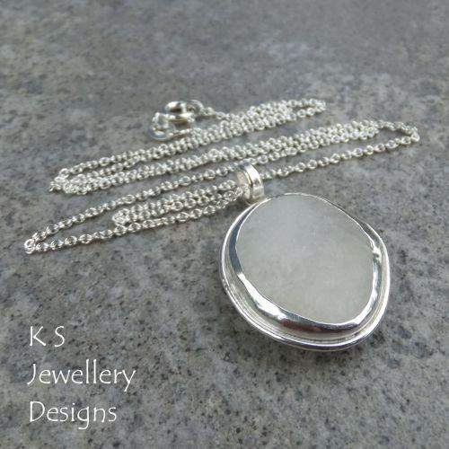 White Pebble Sterling Silver Pendant