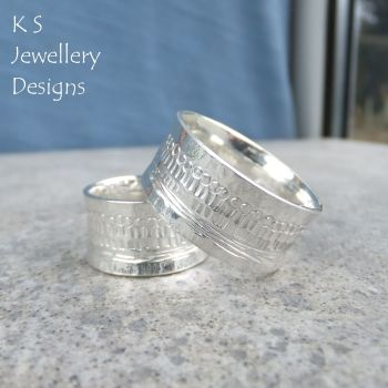 Shoreline Textured Sterling Silver Ring (made to order)