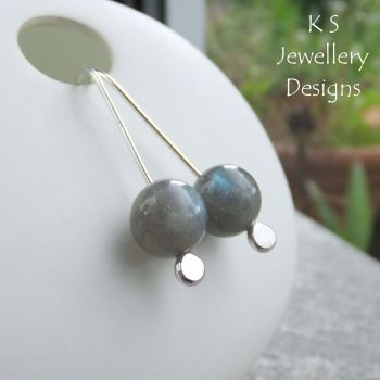 Labradorite Sterling Silver Drop Earrings