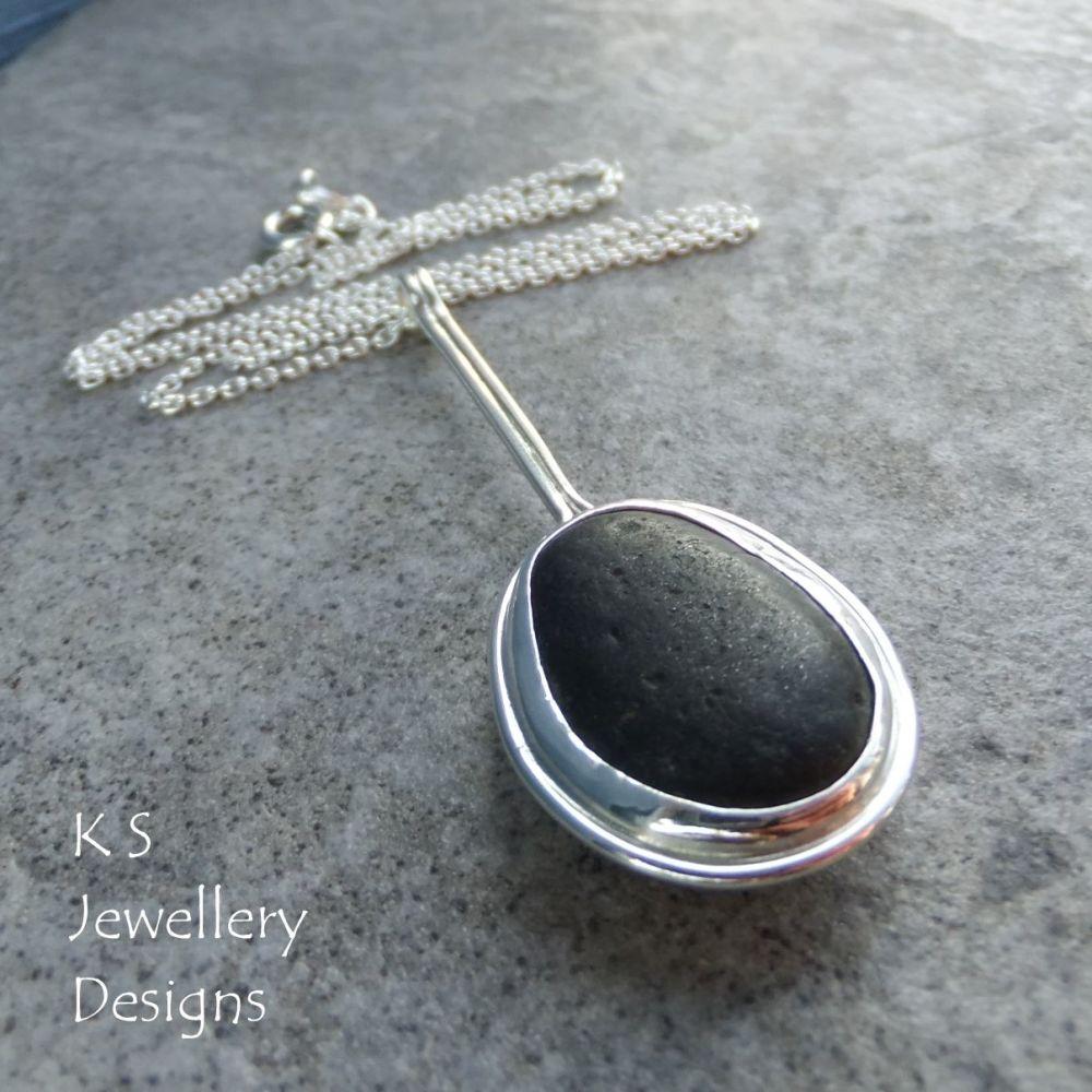 Black Seashore Sterling Silver Pendant