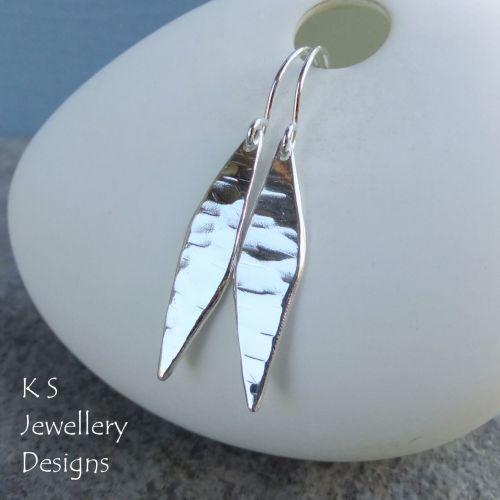 Dappled Drop Sterling Silver Dangly Earrings