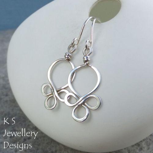 Sterling Silver Wire Loops Earrings