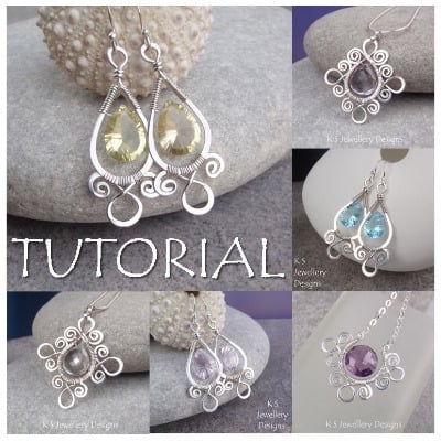 SPIRAL LOOP FRAMES - Wirework Jewellery Tutorial (e-mailed PDF download)