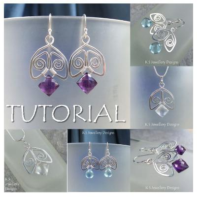 SPIRAL BELLS - Wirework Jewellery Tutorial (e-mailed PDF download)