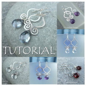 GENIE DROPS - Wirework Jewellery Tutorial (e-mailed PDF download)