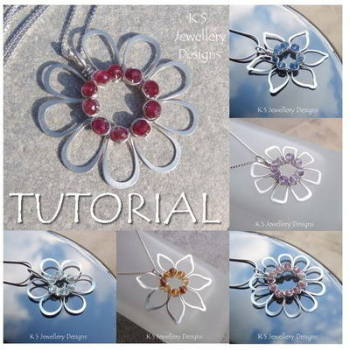 JEWELLED FLOWERS - Wirework Jewellery Tutorial (e-mailed PDF download)