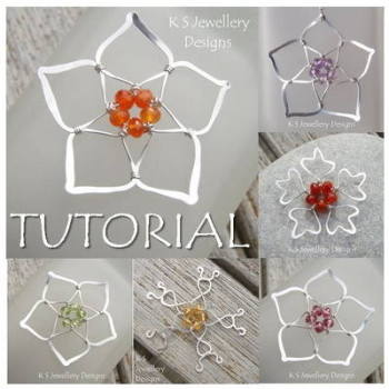 FIVE BEAD FLOWERS - Wirework Jewellery Tutorial (e-mailed PDF download)