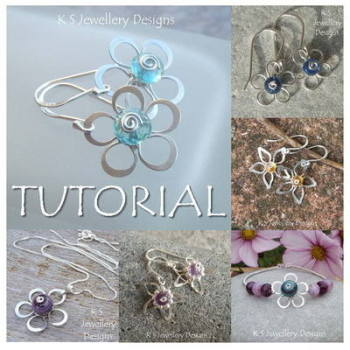 WIRE FLOWERS - Wirework Jewellery Tutorial (e-mailed PDF download)