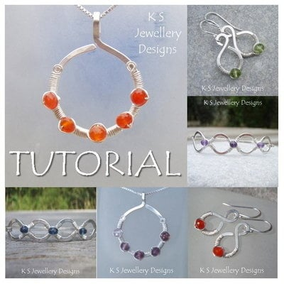 COILED JEWELS - Wirework Jewellery Tutorial (e-mailed PDF download)