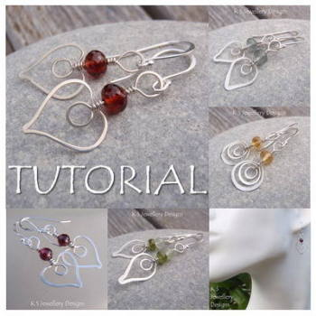 HAMMERED HEARTS - Wirework Jewellery Tutorial (e-mailed PDF download)