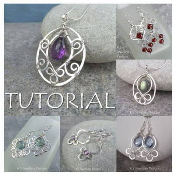 BLOSSOM DROPS - Wirework Jewellery Tutorial (e-mailed PDF download)
