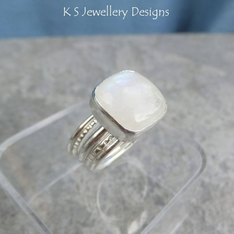 moonstone square ring 9a