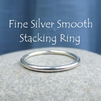 Fine Silver Stacking 1.5mm Ring - SMOOTH (made to order)