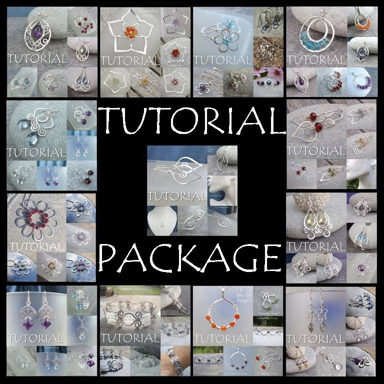 * TUTORIAL PACKAGE x 13 - Buy all 13 of my Wirework Jewellery Tutorials for £40 (save £25)