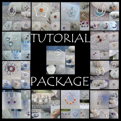 * TUTORIAL PACKAGE x 3 - Choose any 3 of my Wirework Jewellery Tutorials fo