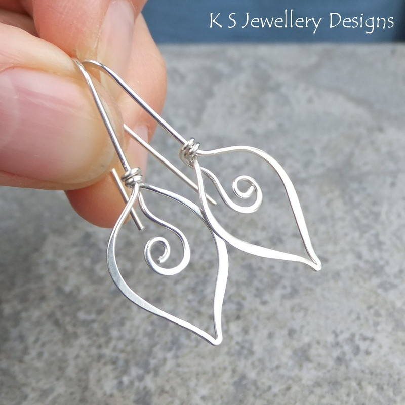 Swirl Leaf earrings 4