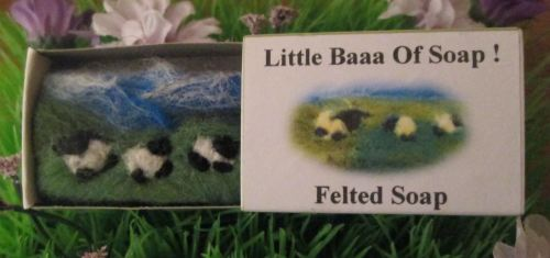 Landscape Felted Sheep Guest Size