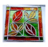 Leaf Tile 002 Red