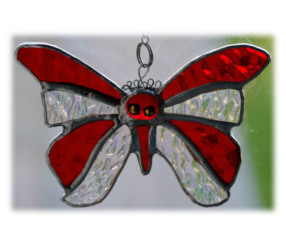 RED Birthstone Butterfly 039 Ruby Jul #705 FREE 13.00