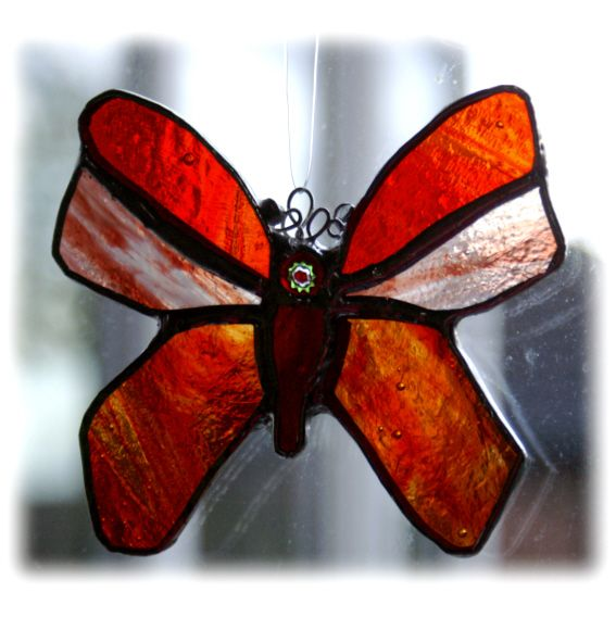 RED Butterfly 11cm 029 Red Amber @1310 FREE 9.00