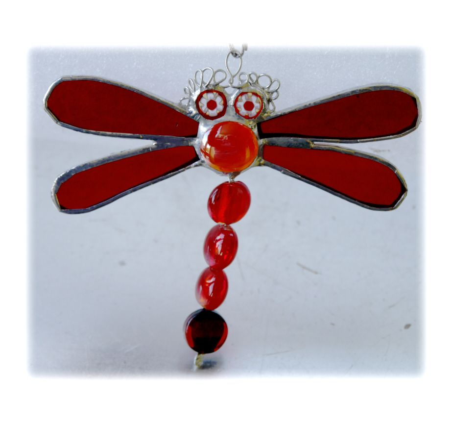 RED Dragonfly beadtail 029 Red #1804 FREE 10.00