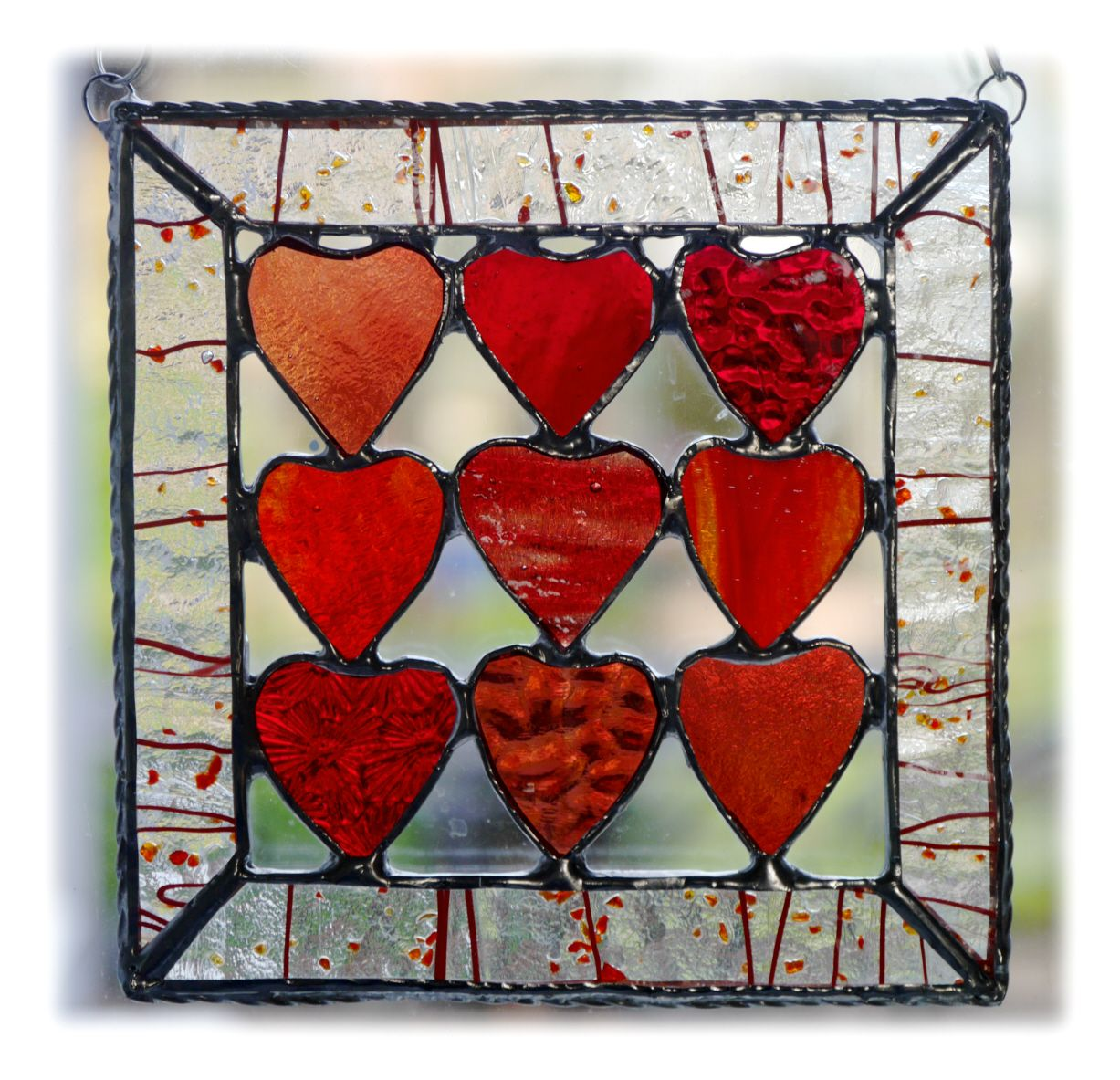 RED Hearts 9 Framed 014 reds #1905 FREE 17.50