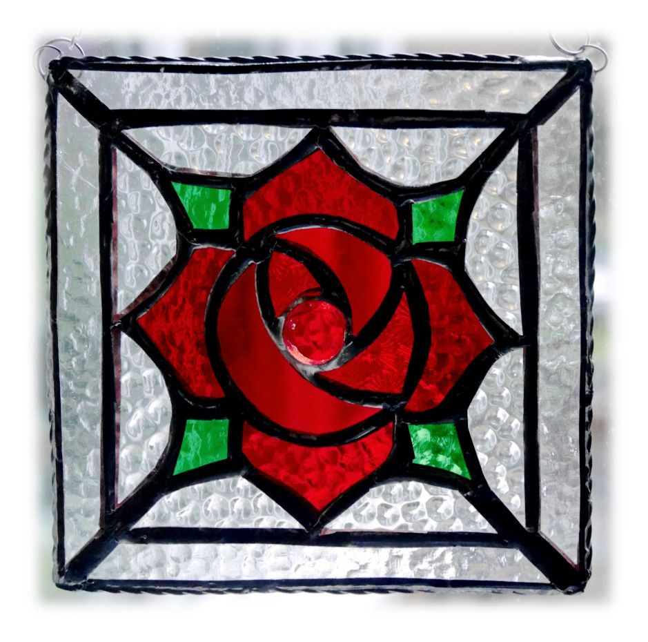 RED Rose Square 004 #1701 FREE 20.00