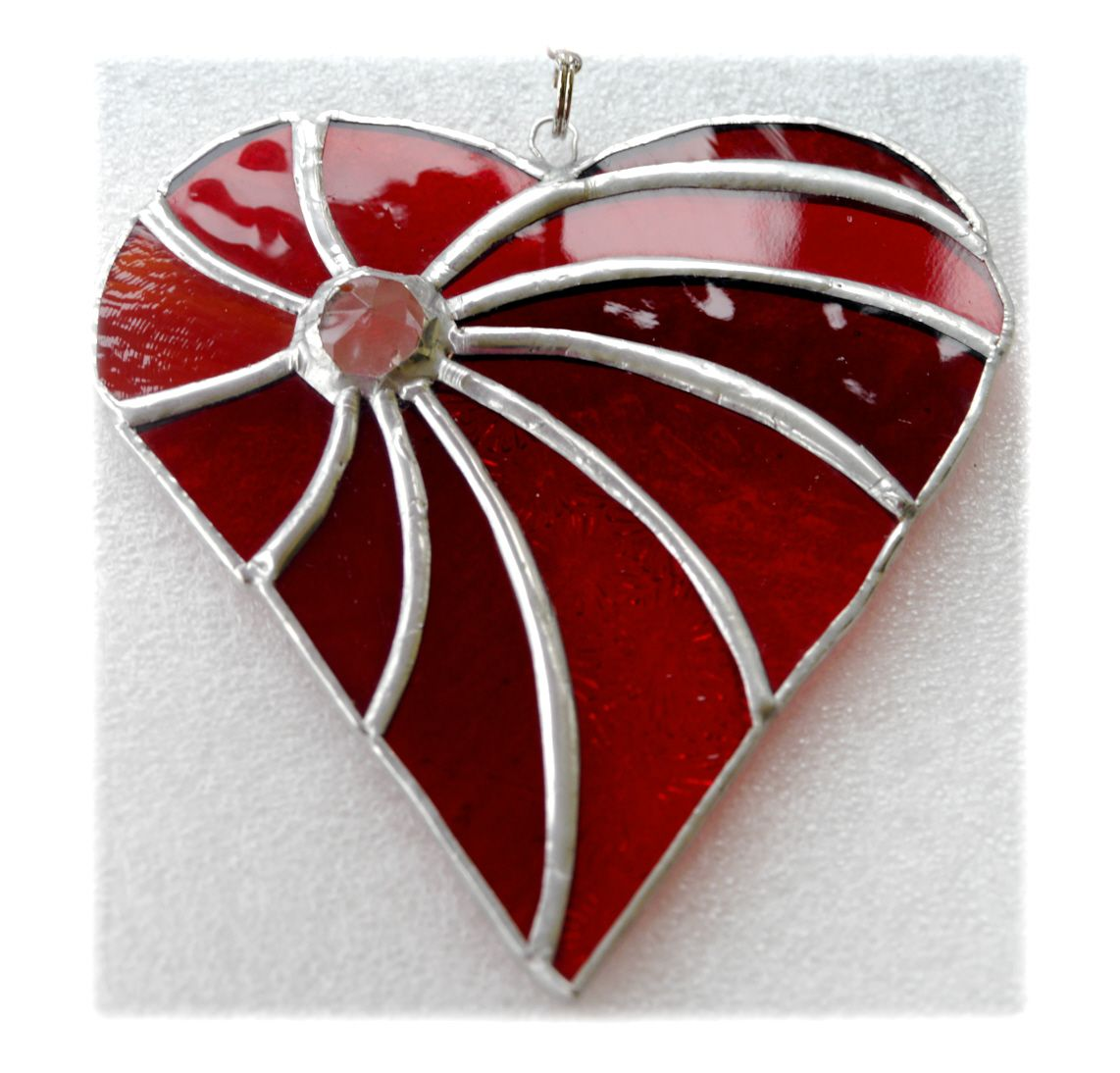 RED Swirled Heart 004 #1805 FREE 15.00