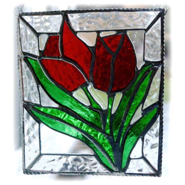 RED Tulips Framed 004 #1502 FREE 22.50