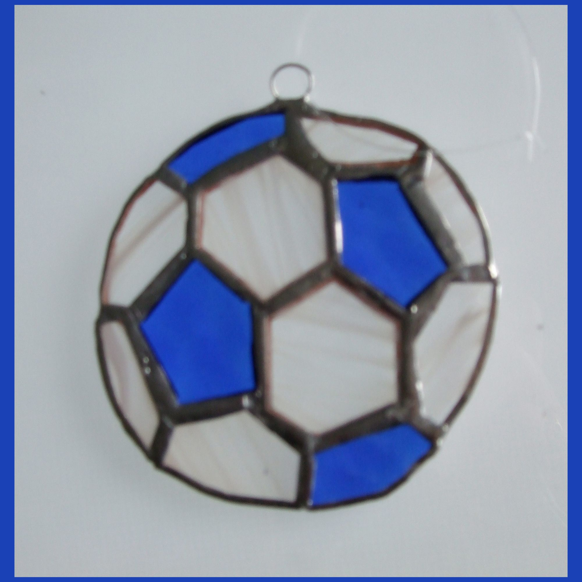 BLUE Football 003 Blue White FREE  10.00