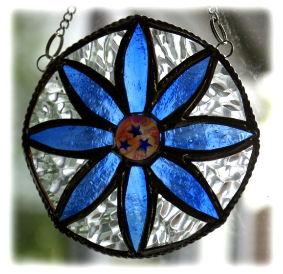 BLUE Daisy Ring 003 Blue #1405 FREE 14.00