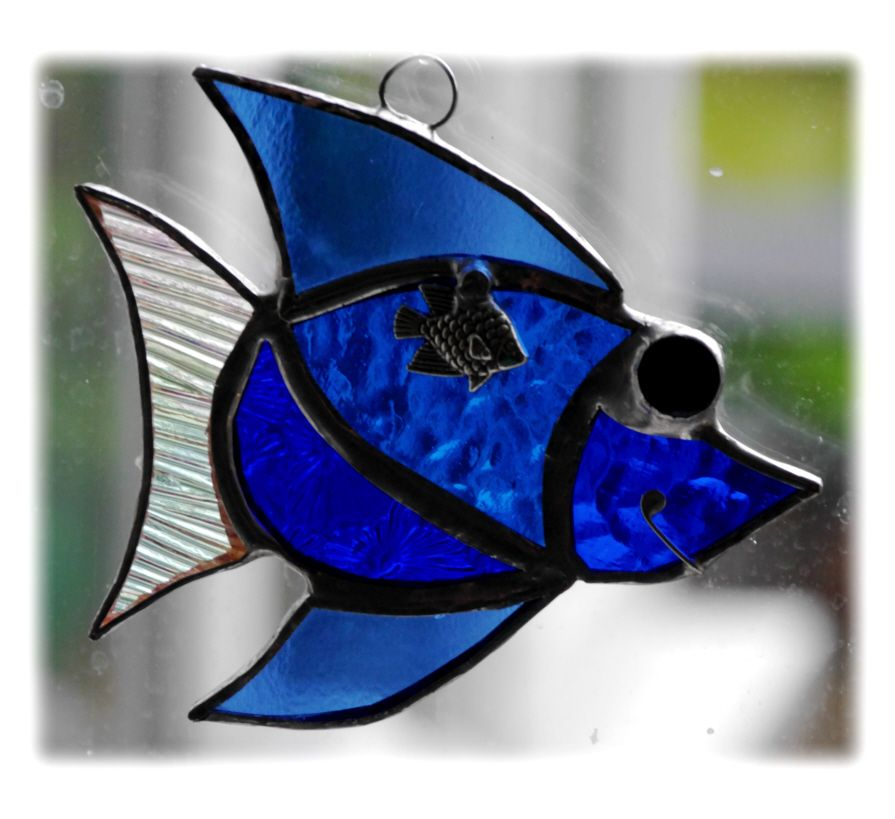 BLUE Little Fish 002 blue #1705 FREE 9.00