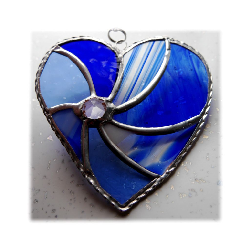 BLUE Swirl Heart 029 BLUE #1811 FREE 14.50