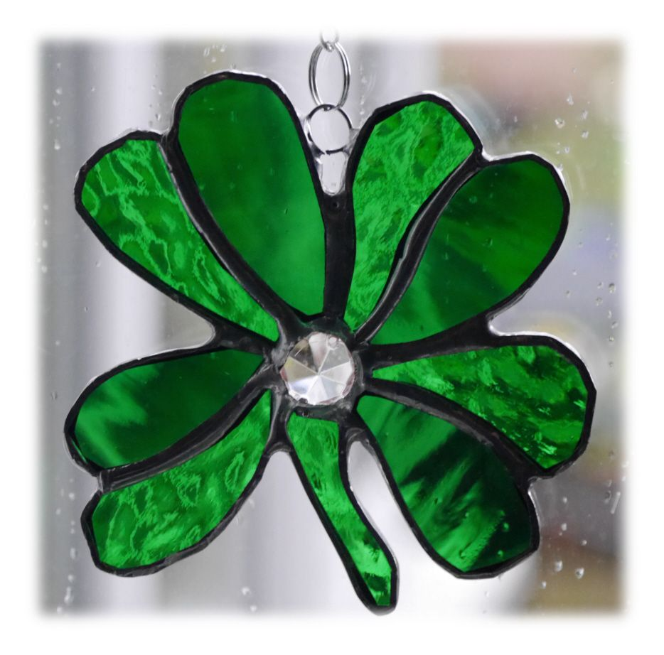 GREEN 4 Leaf Clover 003 #1703 FREE 10.00